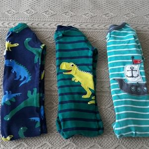 Baby boy bundle cotton footed pajamas carters 24m